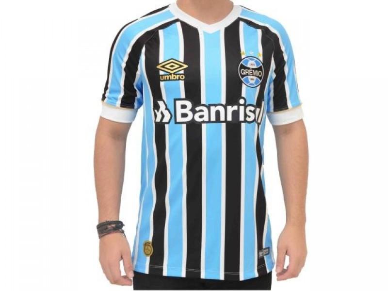 Camisa Umbro Masculina Grêmio Of.1 2018 (Fan Pat C N 7) 515f942177882